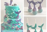 Fancy Mermaid Baby Shower Cake – Cakecentral for Inspirational Mermaid Baby Shower Cake