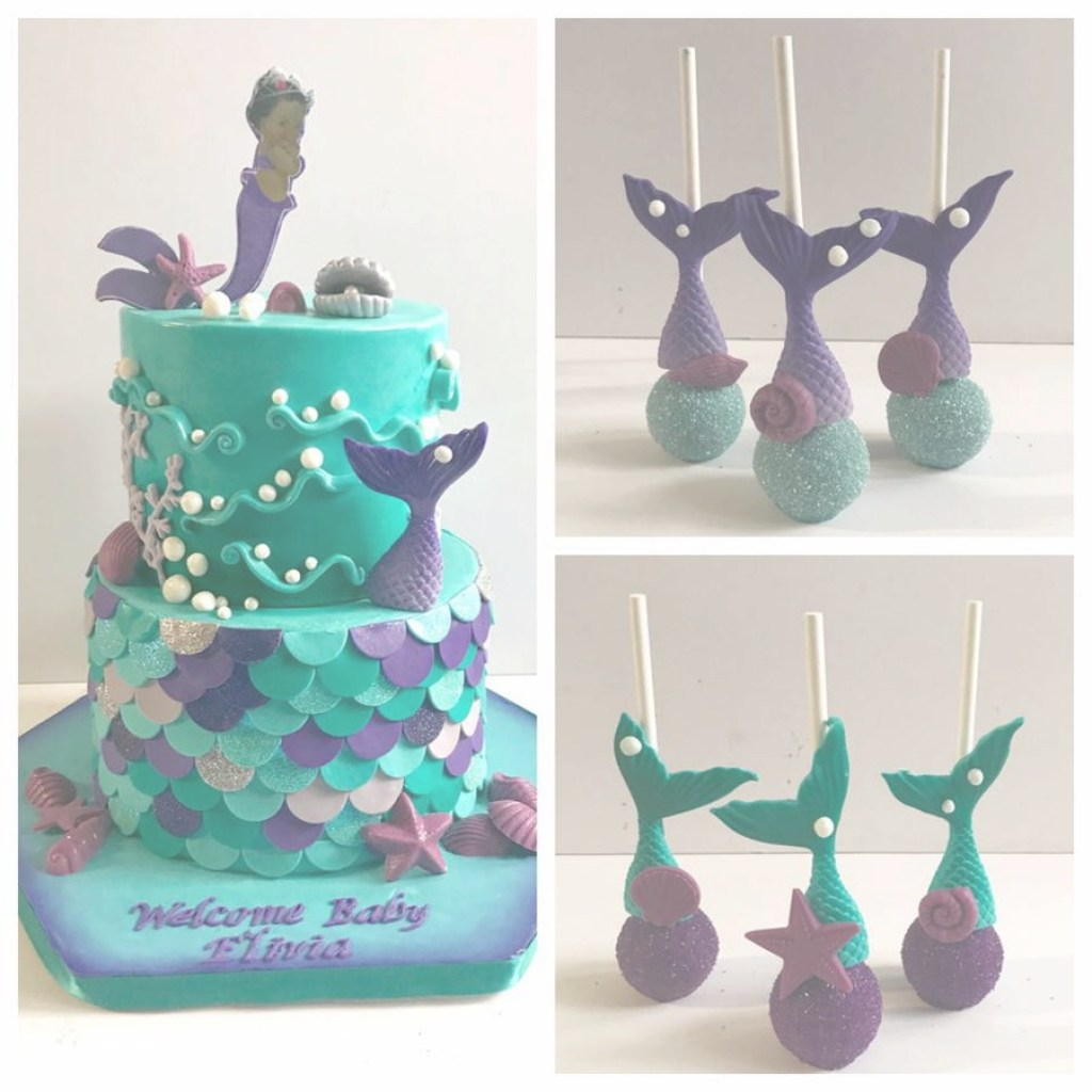 Fancy Mermaid Baby Shower Cake - Cakecentral for Inspirational Mermaid Baby Shower Cake