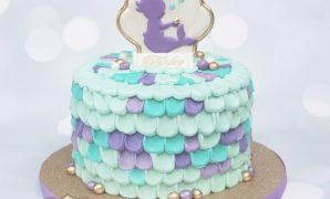 Glamorous Buttercream Mermaid Baby Shower Cake! #purplemermaidcake throughout Inspirational Mermaid Baby Shower Cake