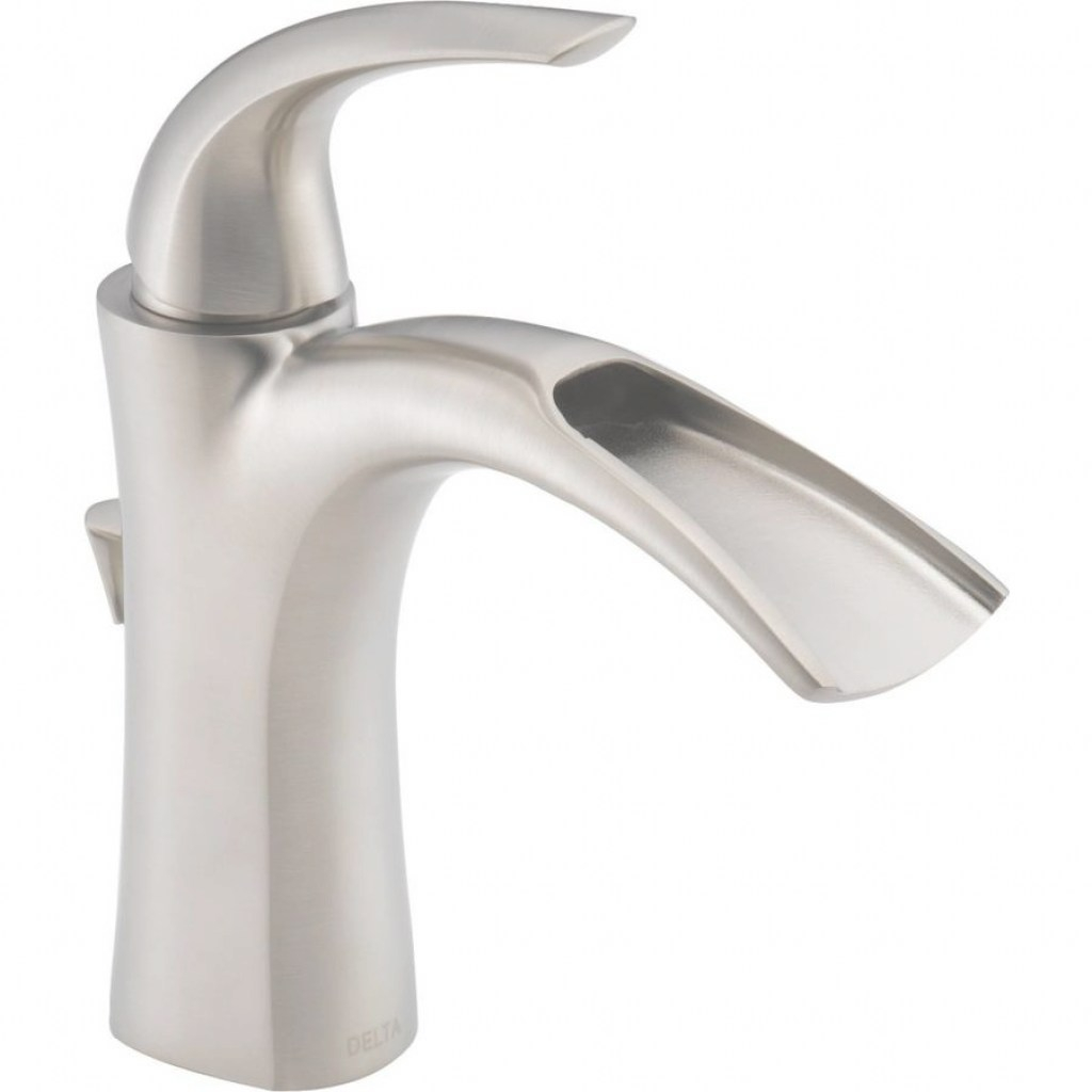 Glamorous Delta Nyla Stainless 1-Handle Single Hole/4-In Centerset Watersense regarding Single Hole Bathroom Sink Faucet
