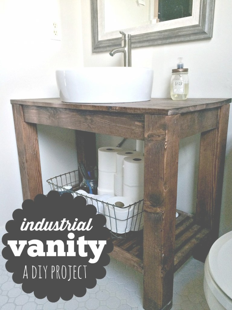 Glamorous Diy Industrial Farmhouse Bathroom Vanity | The Best Of Melissa Voigt within Review Industrial Bathroom Vanity