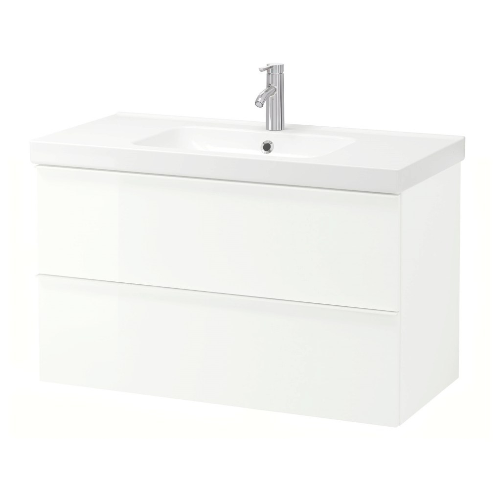 Glamorous Godmorgon / Odensvik Sink Cabinet With 2 Drawers - White Stained Oak within Fresh Ikea Bathroom Vanity Units