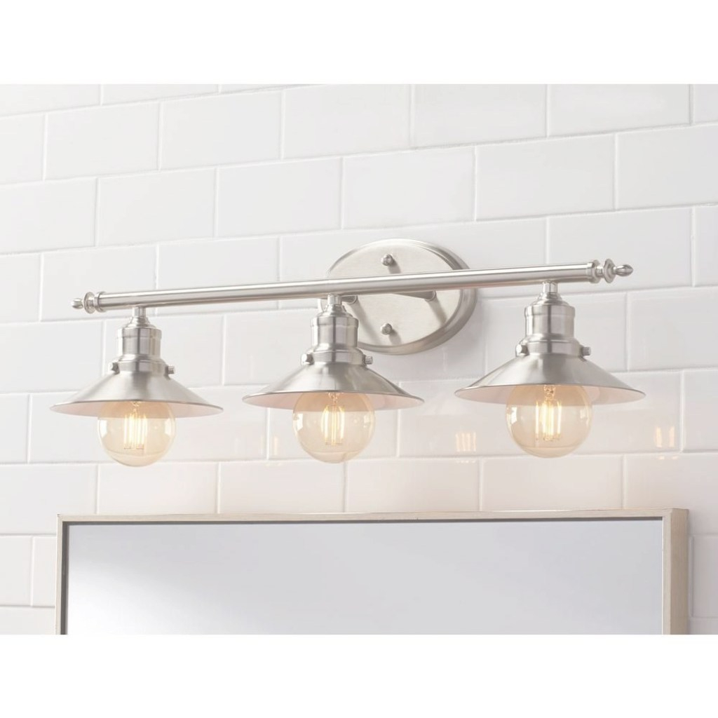 Glamorous Home Decorators Collection Glenhurst 3-Light Brushed Nickel Retro regarding Vintage Bathroom Vanity Lights