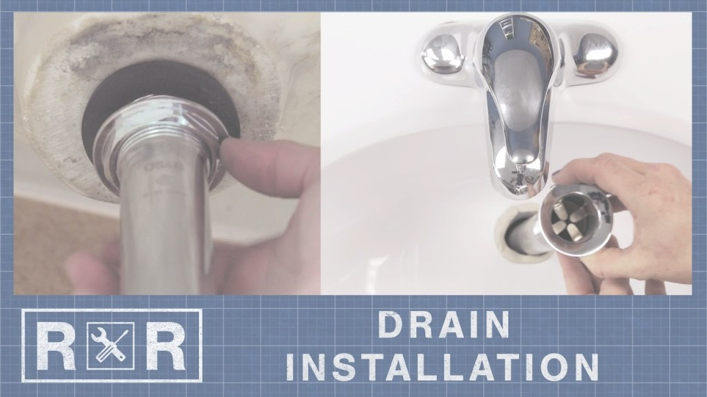 Glamorous How To Install A Bathroom Sink Drain | Repair And Replace - Youtube with regard to High Quality Bathroom Sink Drain Installation