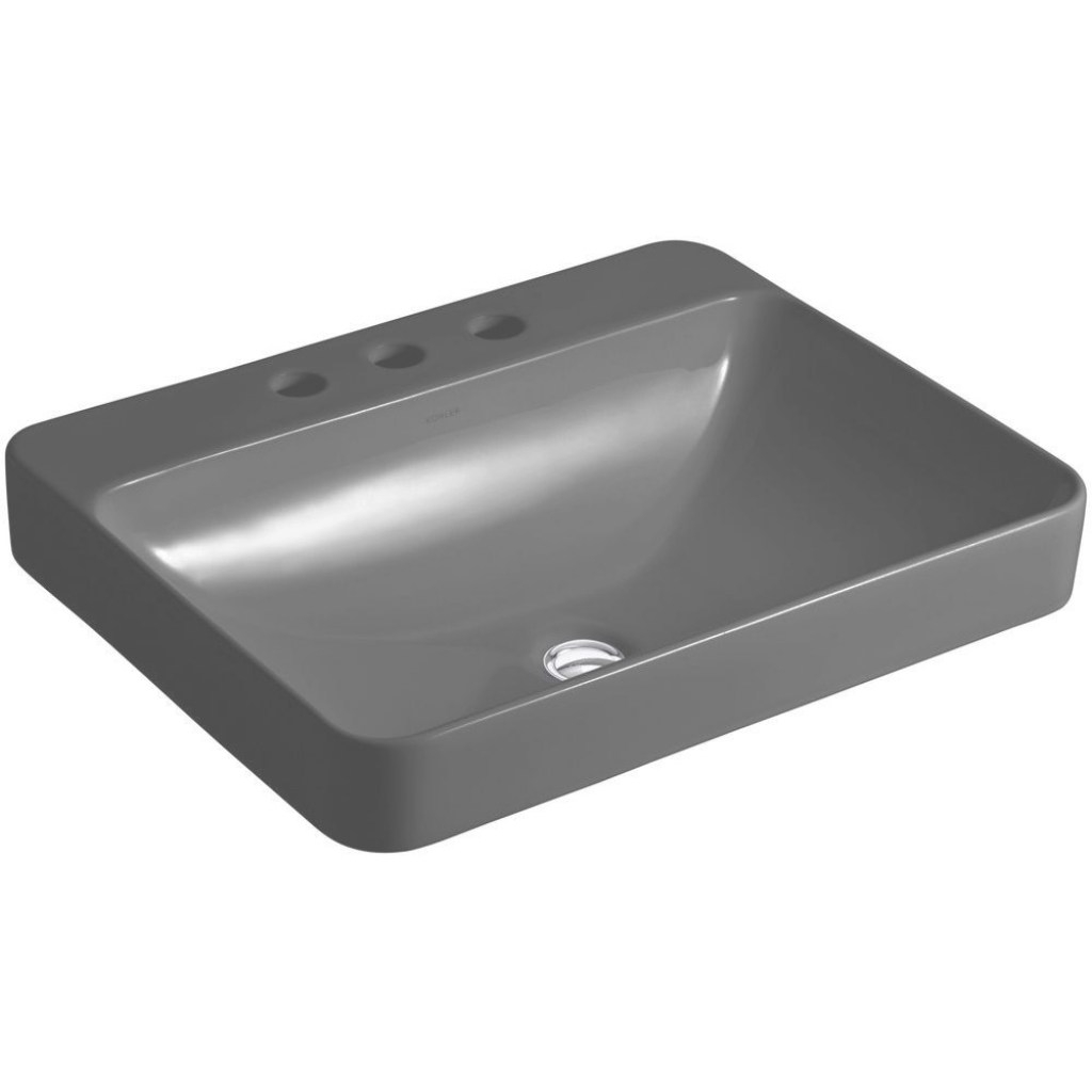 Glamorous Kohler Vox Rectangle Above-Counter Vitreous China Vessel Sink In pertaining to Awesome Black Bathroom Sink