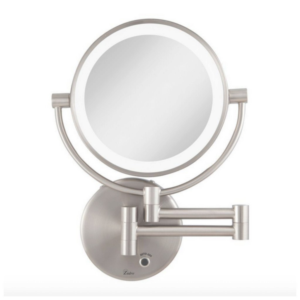 Glamorous Led Lighted Magnifying Makeup Bathroom Vanity Mirror Wall Mount with regard to Bathroom Magnifying Mirror
