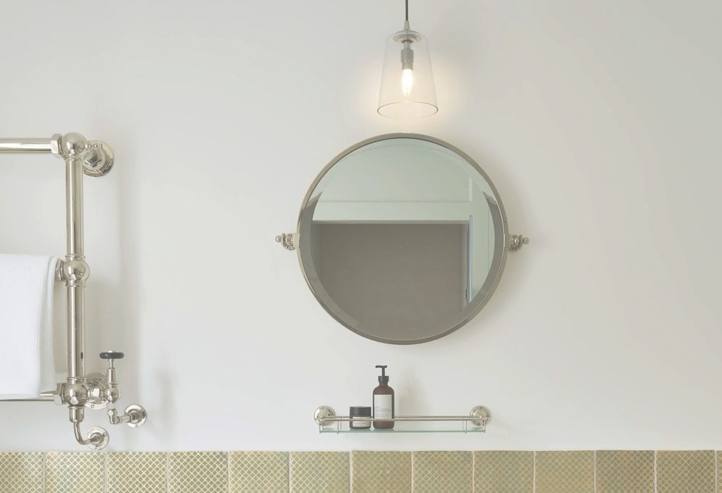 Glamorous Luxury Wall Mounted Circular Bathroom Mirror | Drummonds Bathrooms with Circular Bathroom Mirror