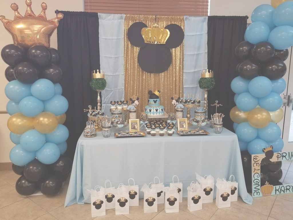 Glamorous Prince Mickey Mouse Themed Desert Table, Themed Baby Shower | Baby pertaining to Unique Baby Shower Mickey Mouse