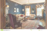 Glamorous Victorian Living Room With Blue Walls Editorial Stock Photo – Image for New The Living Room Dayton