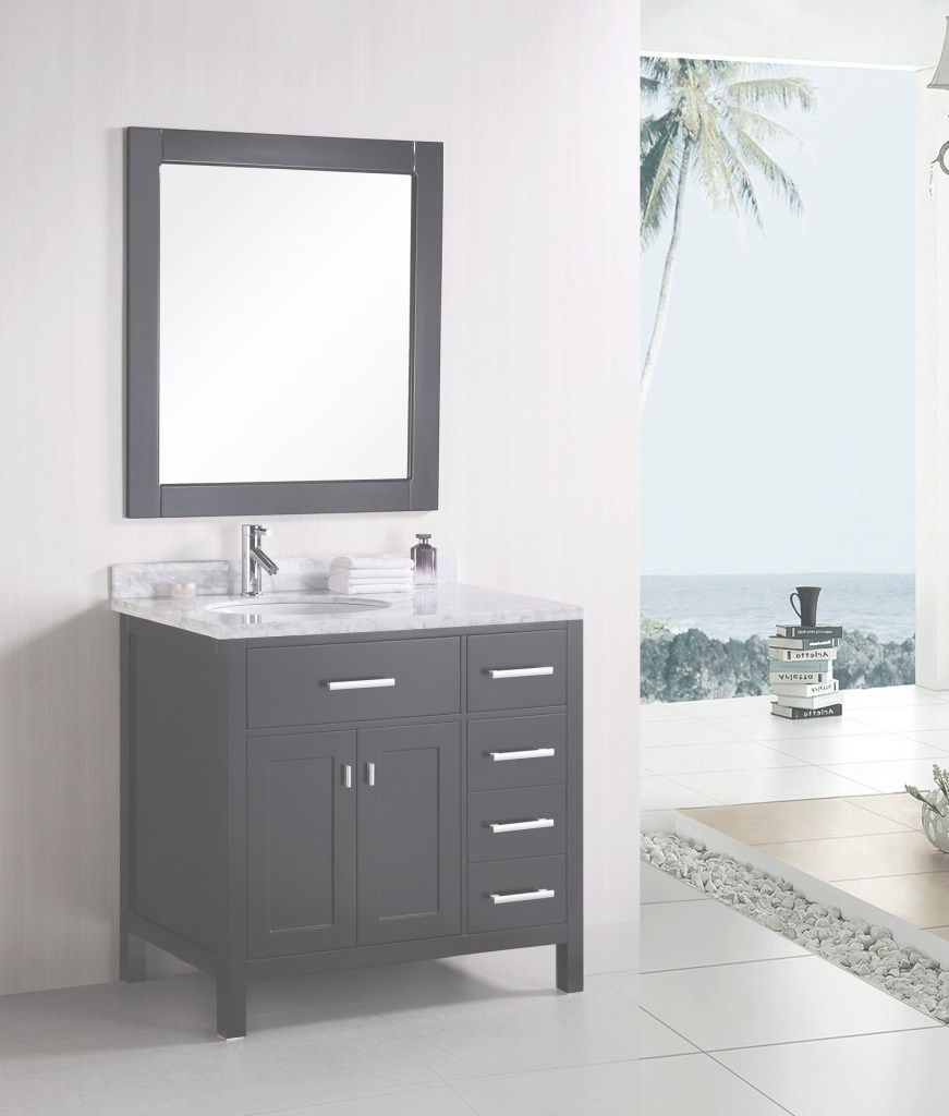 "Inspirational 36"" London (Dec076D) Single Sink Vanity Set :: Bathroom Vanities regarding Cheap Bathroom Vanity Sets"