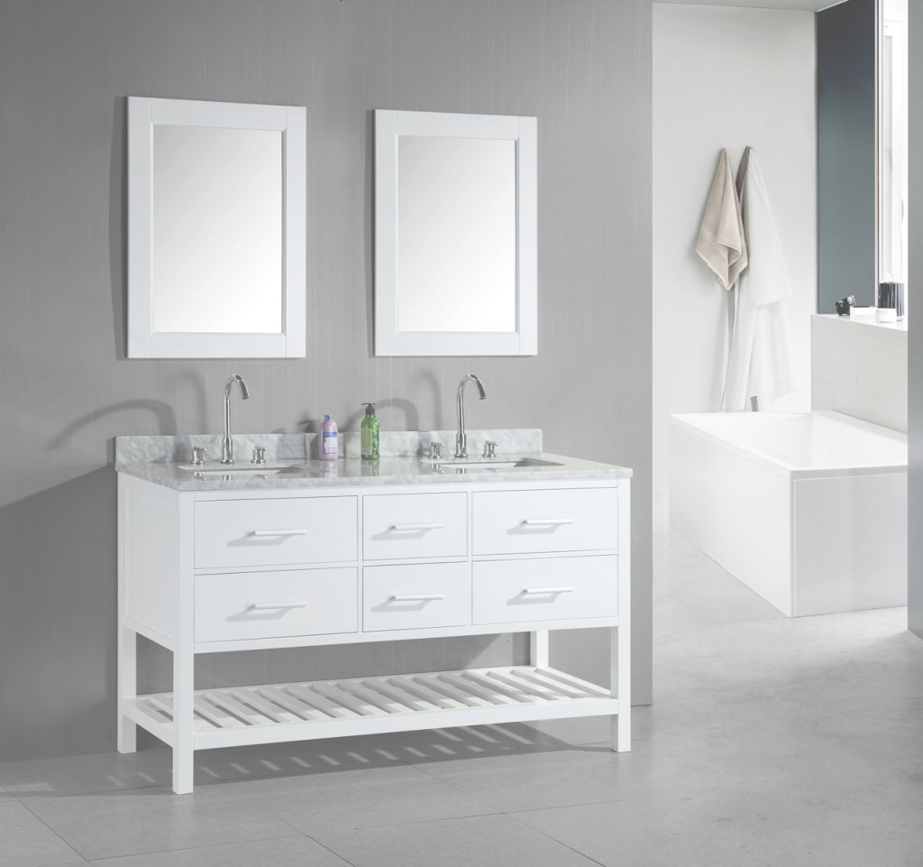 Inspirational Adorna 60 Inch Double Sink Bathroom Vanity Set White Finish with Awesome Cheap Bathroom Vanity Sets