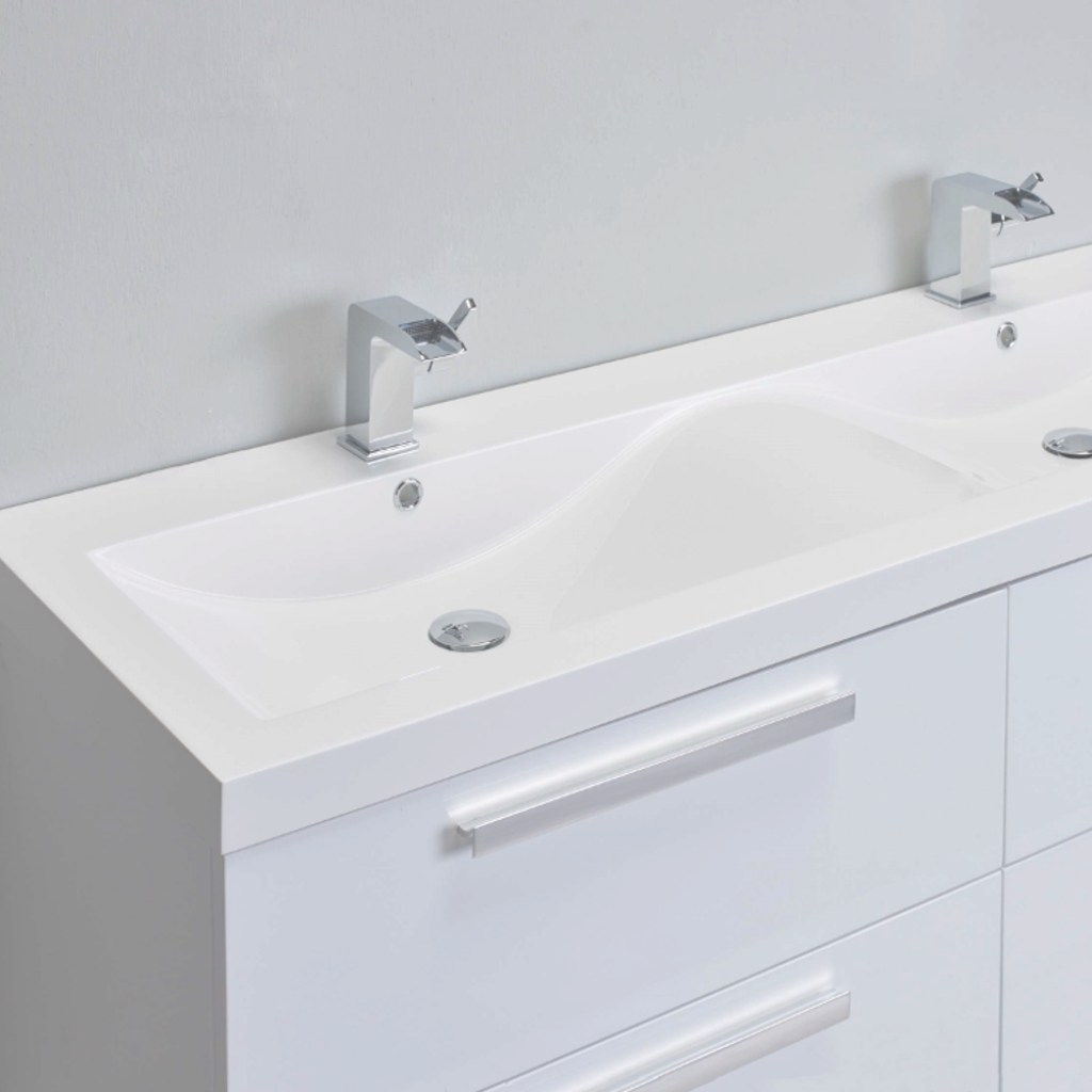 "Inspirational Eviva Surf 57"" White Modern Bathroom Vanity Set With Integrated regarding Acrylic Bathroom Sink"