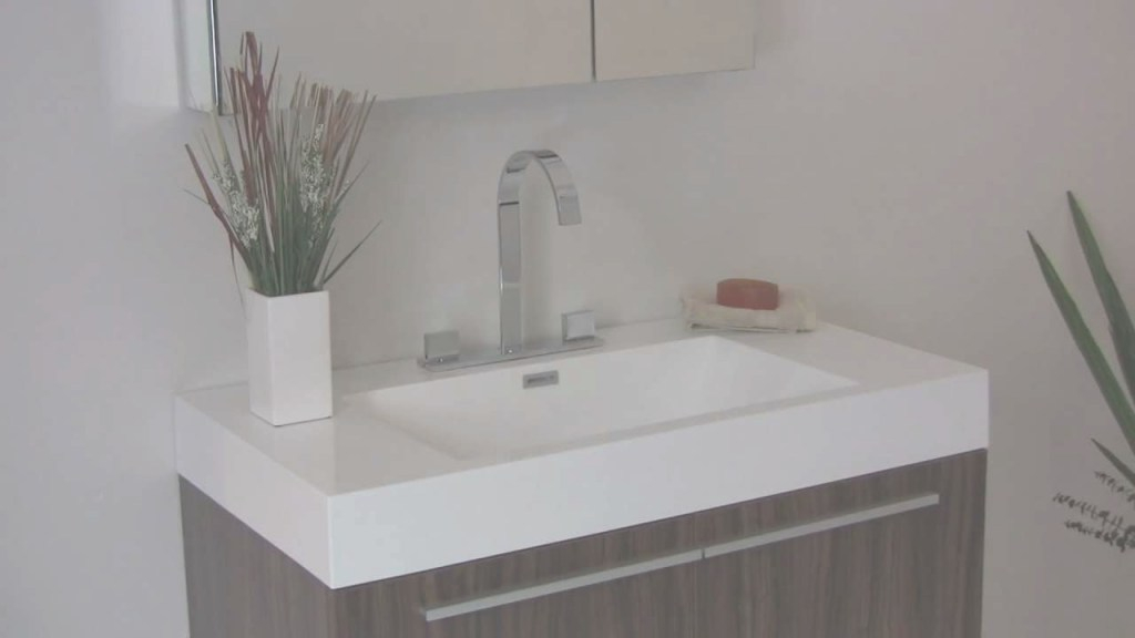 Inspirational Fresca Vista Walnut Modern Bathroom Vanity W/ White Acrylic Sink with regard to Acrylic Bathroom Sink