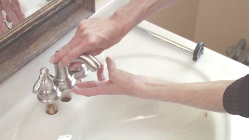 Inspirational How To Install A Moen Centerset Faucet - Youtube inside Luxury Bathroom Faucet Installation