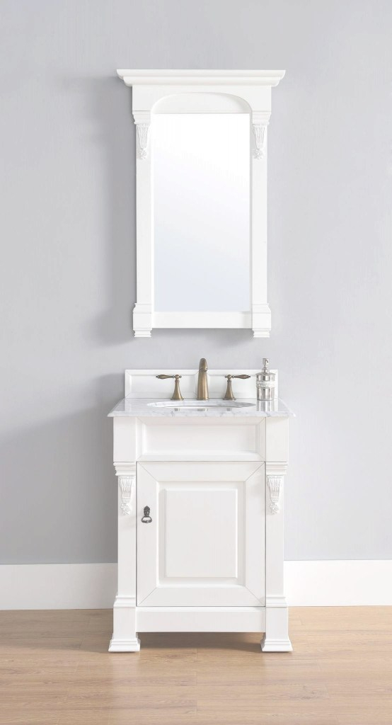 Inspirational James Martin 147-114-V26-Cwh-2Car Brookfield 26 Inch Cottage White in Good quality 26 Inch Bathroom Vanity
