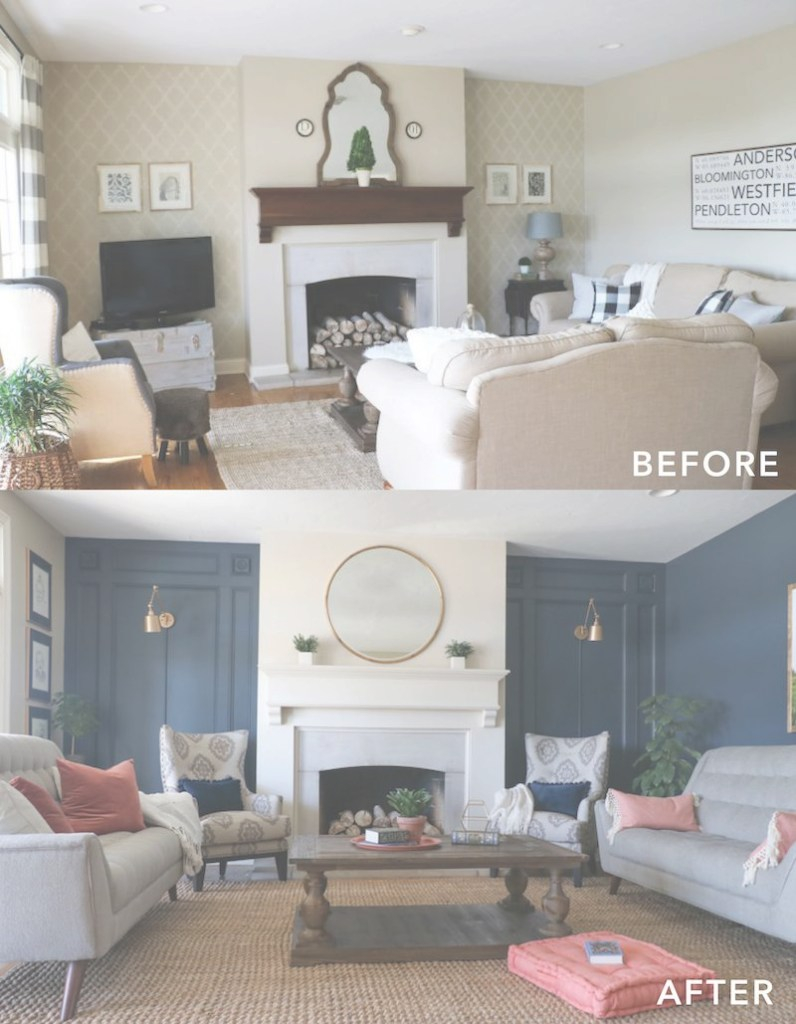 Inspirational Living Room Makeover With The Roomplace | Bloggers' Best Diy Ideas throughout Living Room Before And After