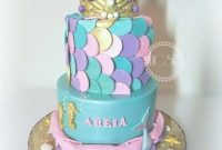 Inspirational Mermaid Baby Shower Cake – Cakecentral regarding Mermaid Baby Shower Cake