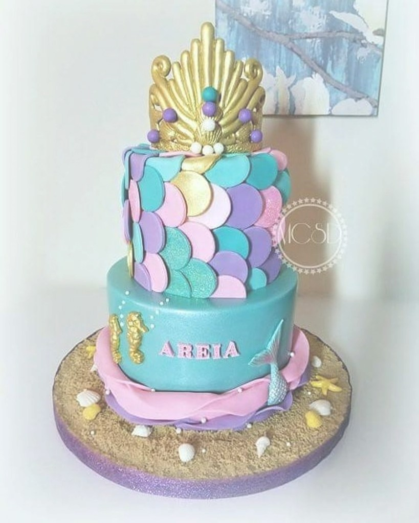 Inspirational Mermaid Baby Shower Cake - Cakecentral regarding Mermaid Baby Shower Cake