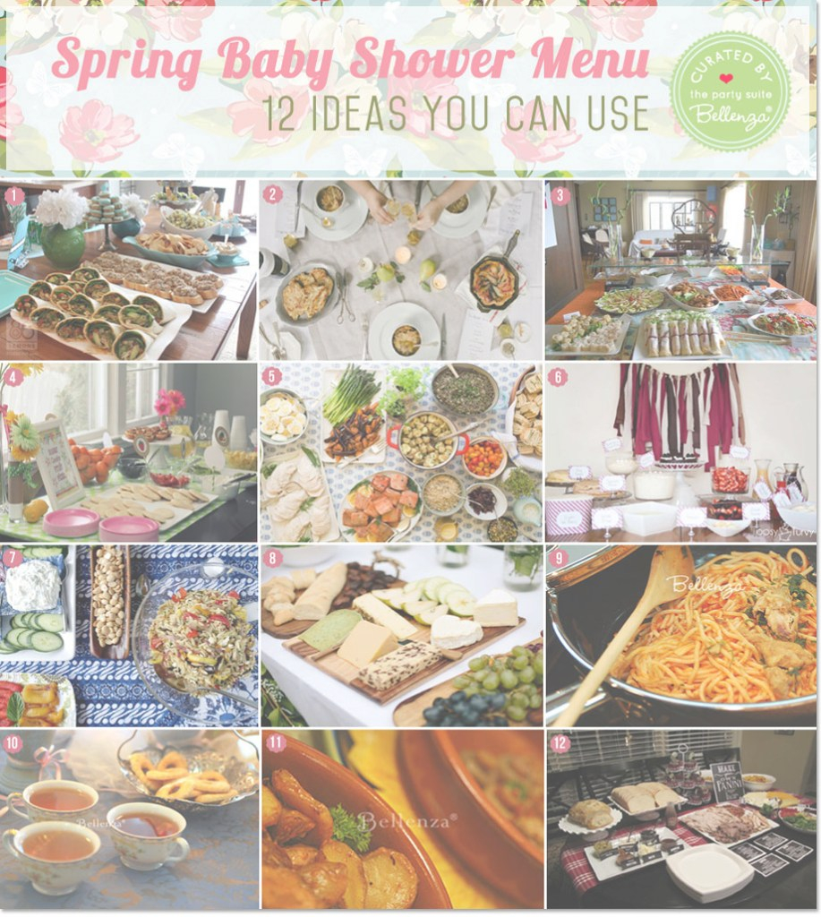 Inspirational Spring Baby Shower Menu Ideas: Definitely Delish + Doable! throughout Unique Baby Shower Dinner Menu