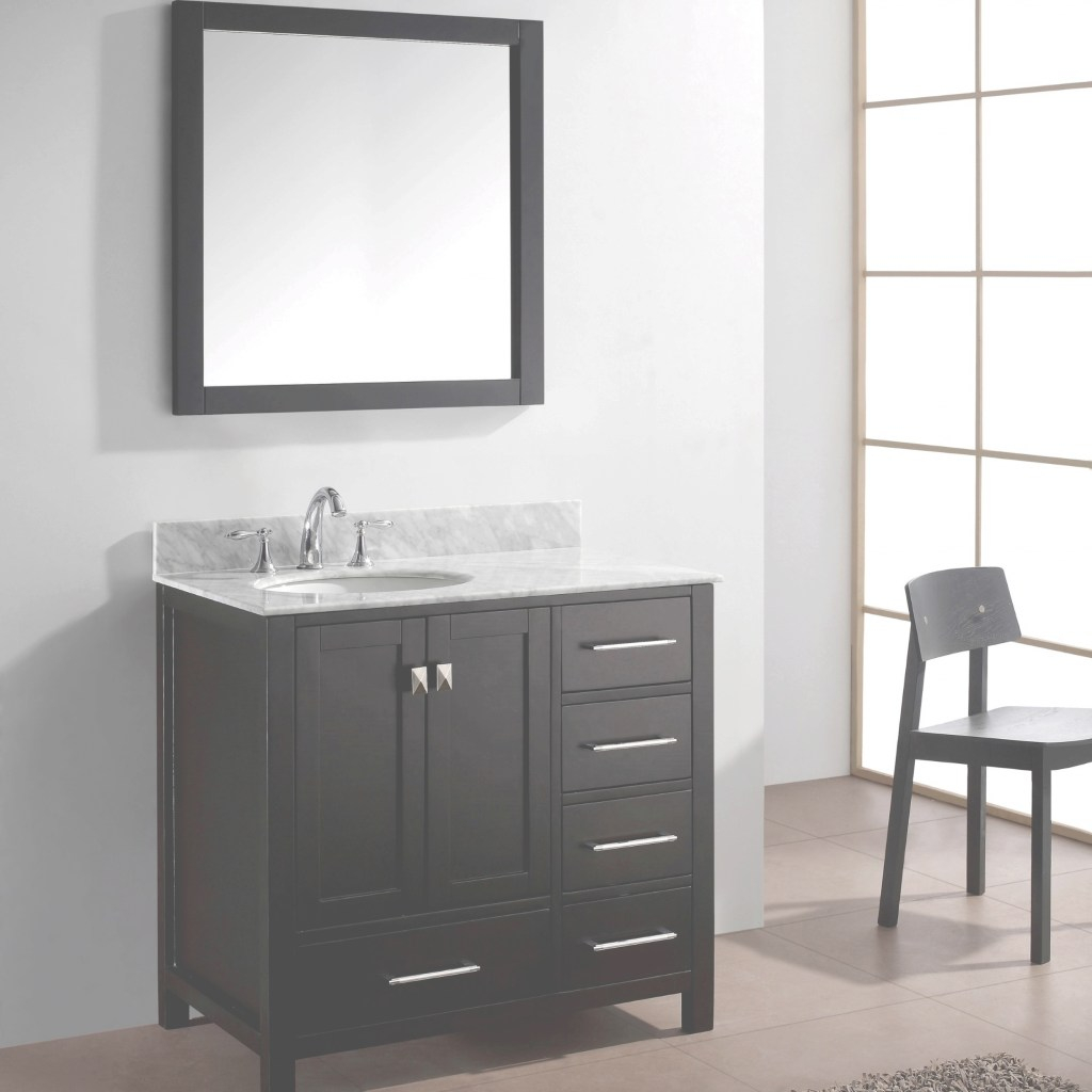 Inspirational Virtu Usa Caroline Avenue 36 Single Bathroom Vanity Set In Espresso with Espresso Bathroom Vanity