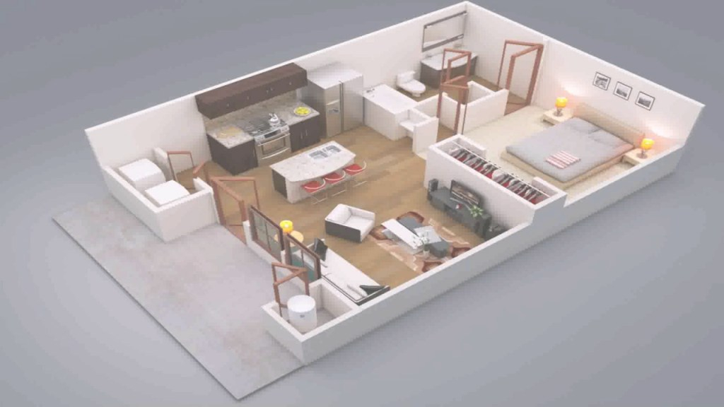 Lovely 1 Bedroom House Design Ideas - Youtube within Elegant 1 Bedroom House