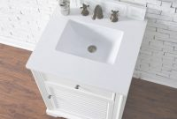 Lovely Abstron 26 Inch White Finish Single Sink Traditional Bathroom Vanity inside 26 Inch Bathroom Vanity