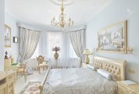 Lovely Classic Style Luxury Bedroom Interior In Blue Colors With Boudoir regarding Boudoir Bedroom