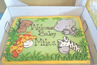 Lovely Jungle Safari Baby Shower Cake! | Baby Waller In 2019 | Baby Shower for Beautiful Jungle Baby Shower Cake
