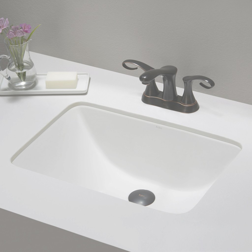Lovely Kraus Elavo Small Rectangular Ceramic Undermount Bathroom Sink In inside Small Rectangular Undermount Bathroom Sink