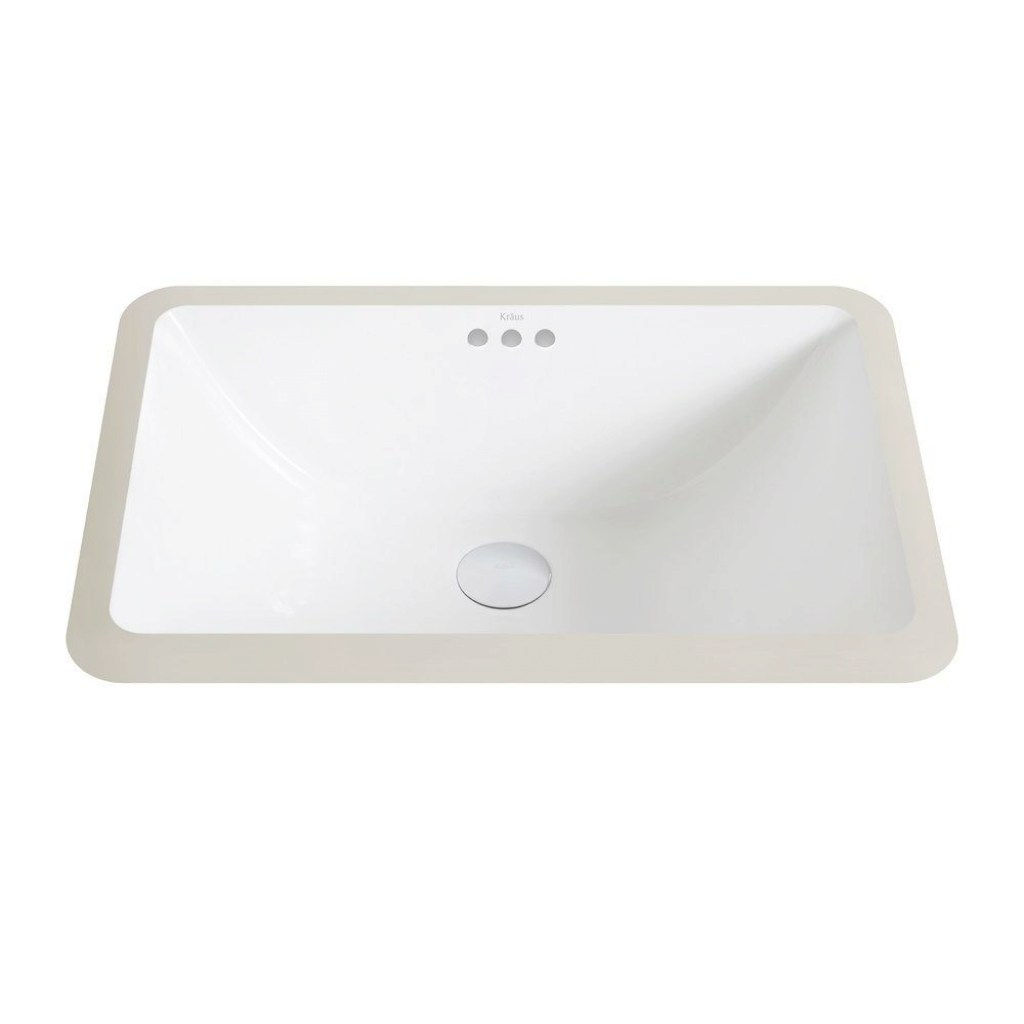 Lovely Kraus Elavo Small Rectangular Ceramic Undermount Bathroom Sink In throughout Small Rectangular Bathroom Sink
