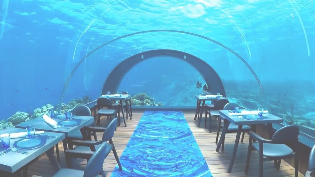 Lovely Overwater Bungalows And Underwater Dining In The Maldives! - Youtube in Maldives Overwater Bungalow