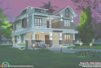 Modern 4 Bedroom Modern House 274 Square Meter – Kerala Home Design And with Elegant Kerala Home Design 2017