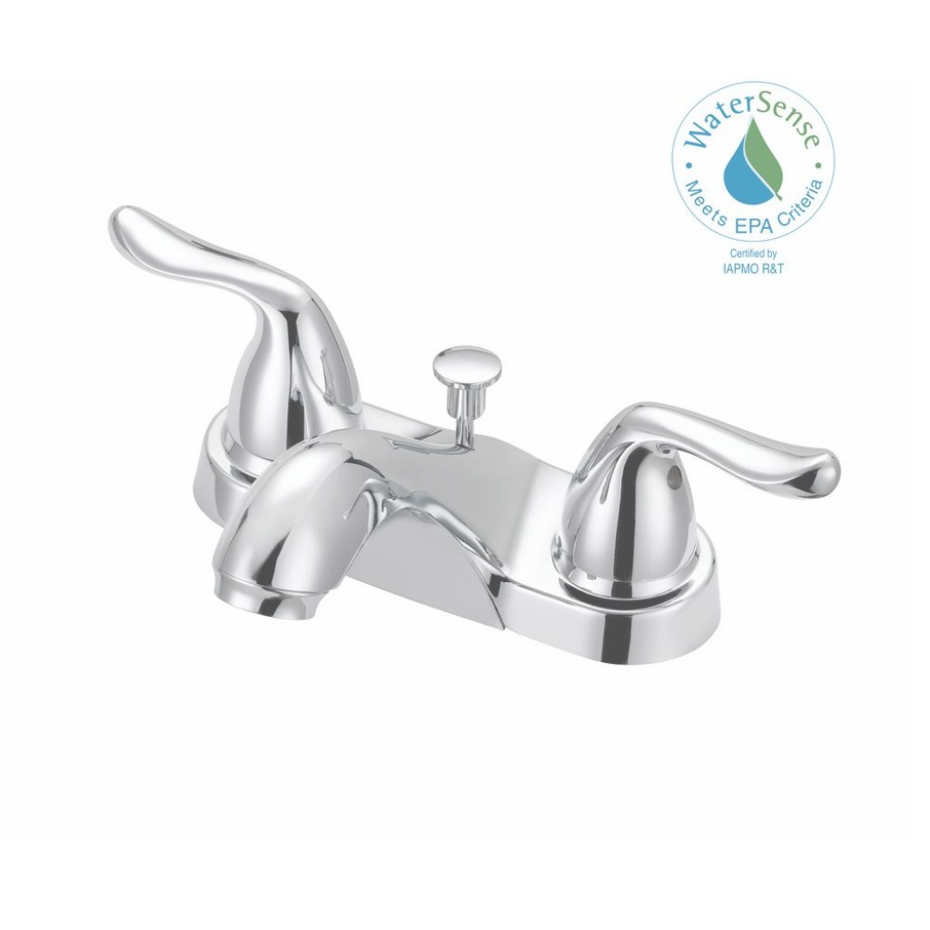 Modern Glacier Bay Constructor 4 In. Centerset 2-Handle Mid-Arc Bathroom regarding Luxury Bathroom Faucet Installation