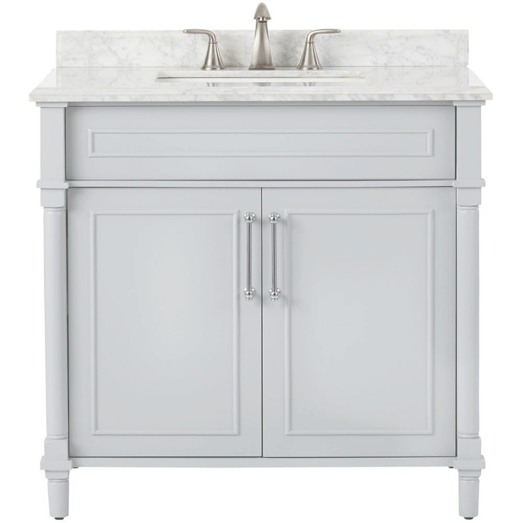 Modern Home Decorators Collection Aberdeen 36 In. W X 22 In. D Single Bath for Home Decorators Bathroom Vanity