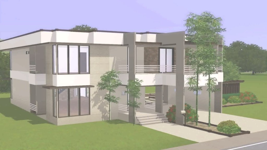 Modern Modern House Floor Plans Sims 4 - Youtube regarding Good quality Sims 4 House Layout