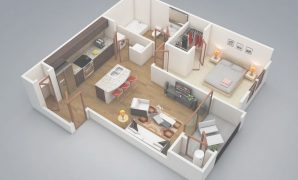 "Modular 50 One ""1"" Bedroom Apartment/house Plans 