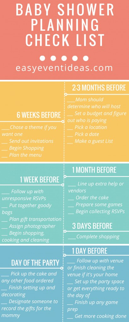 Modular Baby Shower Planning Checklist – Easy Event Ideas within Good quality When To Plan A Baby Shower
