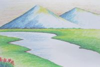 Modular Beginners Mountain Landscape Drawing With Oil Pastel – Youtube with Landscape Drawing Images