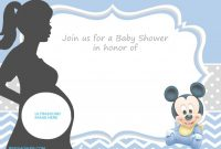 Modular Free Printable Mickey Mouse Baby Shower Invitation Template | Baby regarding Mickey Mouse Baby Shower Invitations