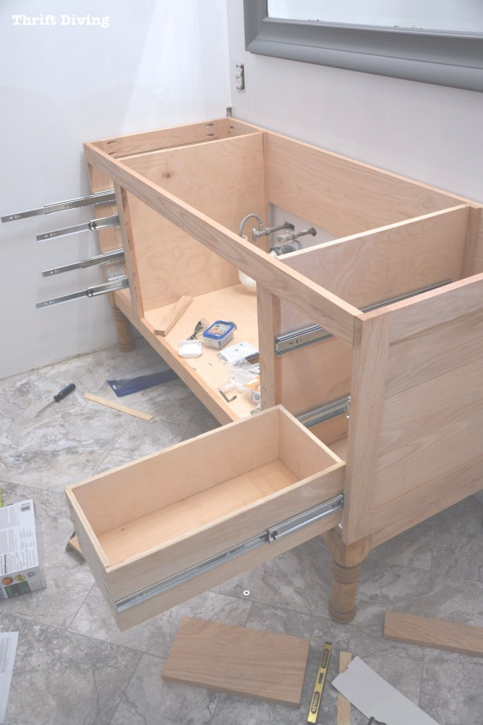 "Modular How To Build A 60"" Diy Bathroom Vanity From Scratch within Build Bathroom Vanity"