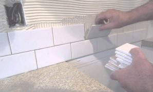 Modular How To Install A Simple Subway Tile Kitchen Backsplash - Youtube inside How To Install Subway Tile Backsplash