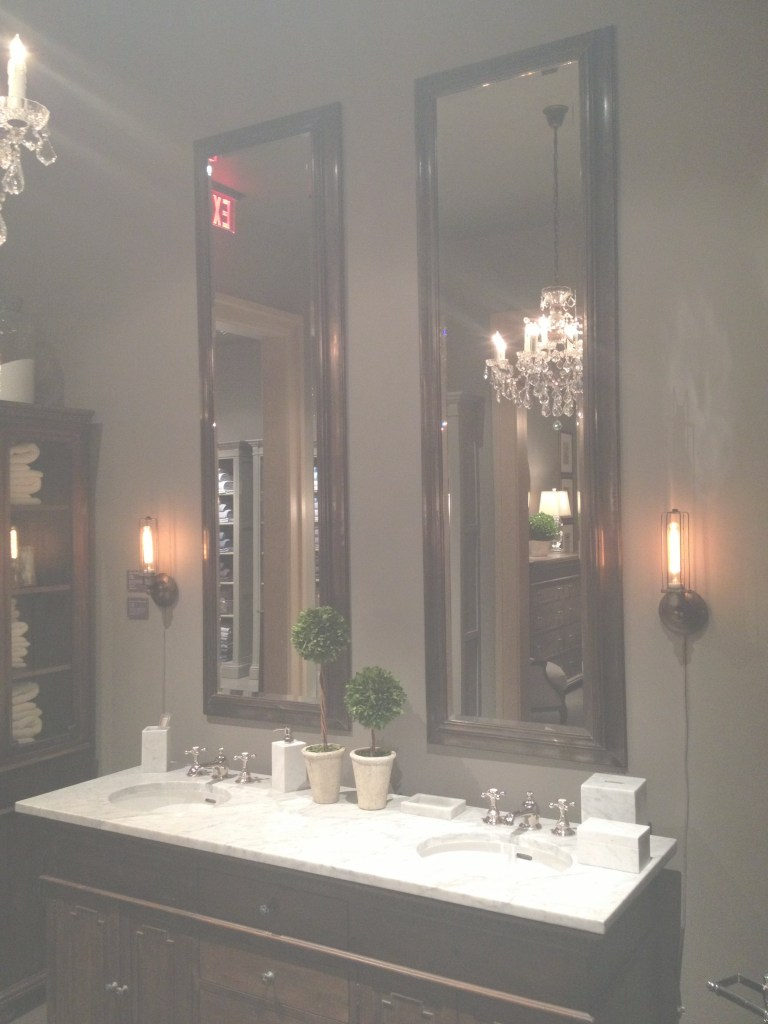 Modular Tall Mirrors For Bathroom Restoration Hardware This Is The Look For within Unique Restoration Hardware Bathroom Mirrors