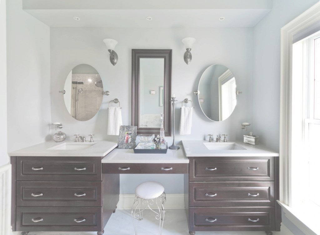 Modular Vanity Ideas. Amazing Vanity With Makeup Area: Vanity-With-Makeup with regard to Bathroom Vanity With Makeup Station