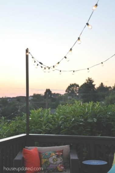 10 Collection Of Hanging Outdoor Cafe Lights regarding How To Hang Outdoor String Lights