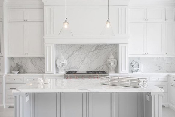 10 Fabulous Gray And White Kitchens - Tuft & Trim for White And Gray Kitchens