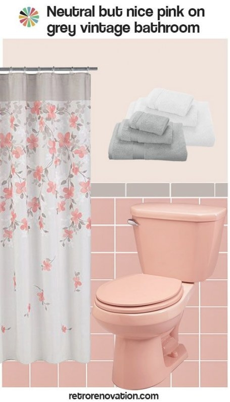 12 Ideas To Decorate A Pink And Gray Vintage Bathroom for Pink And Gray Bathroom