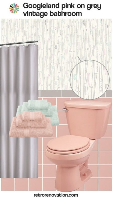 12 Ideas To Decorate A Pink And Gray Vintage Bathroom in Pink And Gray Bathroom