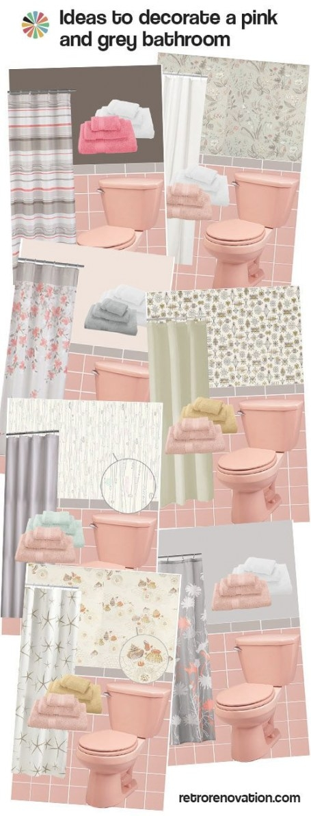 12 Ideas To Decorate A Pink And Gray Vintage Bathroom inside Pink And Gray Bathroom