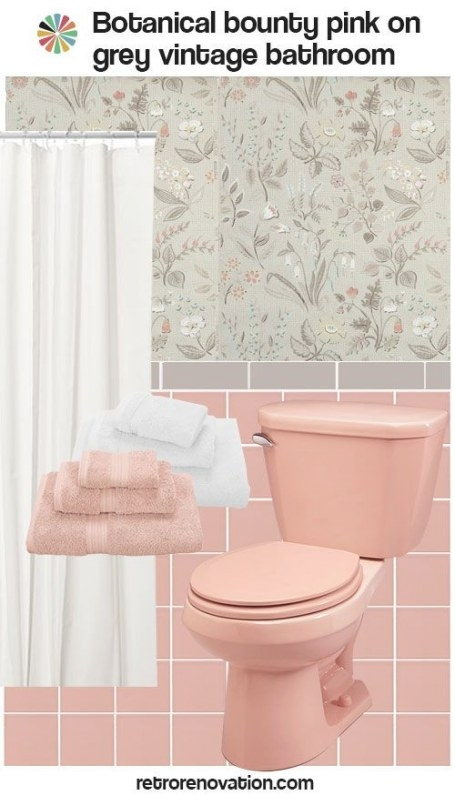 12 Ideas To Decorate A Pink And Gray Vintage Bathroom regarding Pink And Gray Bathroom