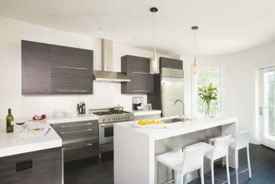 15 Beautiful L-Shaped Kitchens | Home Design Lover throughout L Shaped White Kitchen